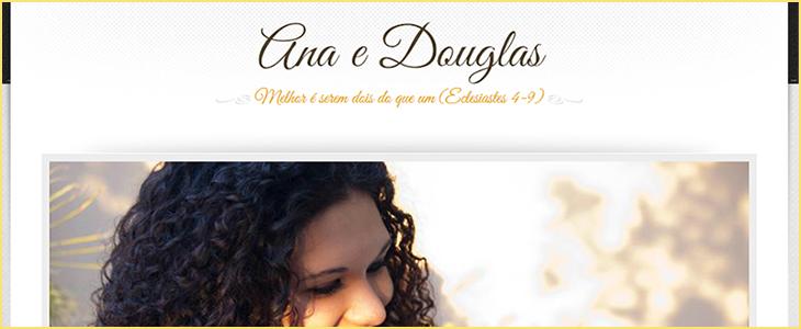 Ana e Douglas – Site de Casamento